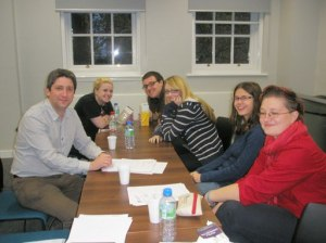 L-R: Dr Miguel Mera, Alexandra George, James Perkins, Harriet Baker, Ruth Ginger, and Martina Baltkalne