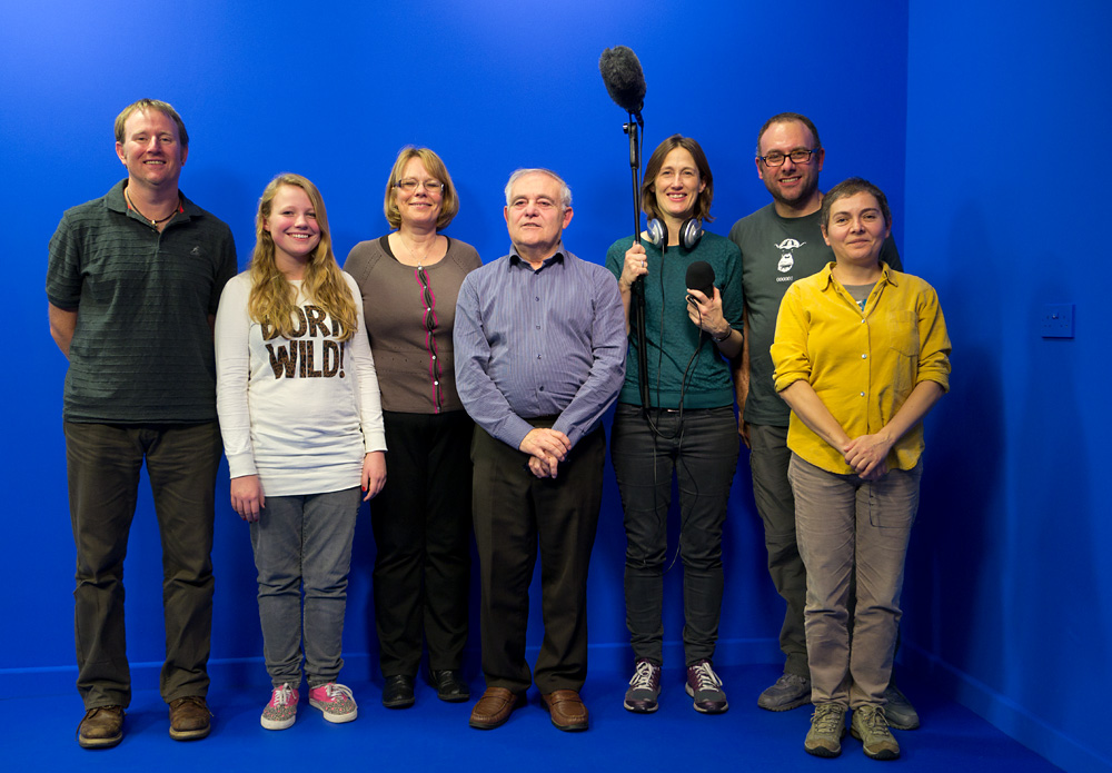 Filming Shareville against bluescreen in the MILL's TV studio