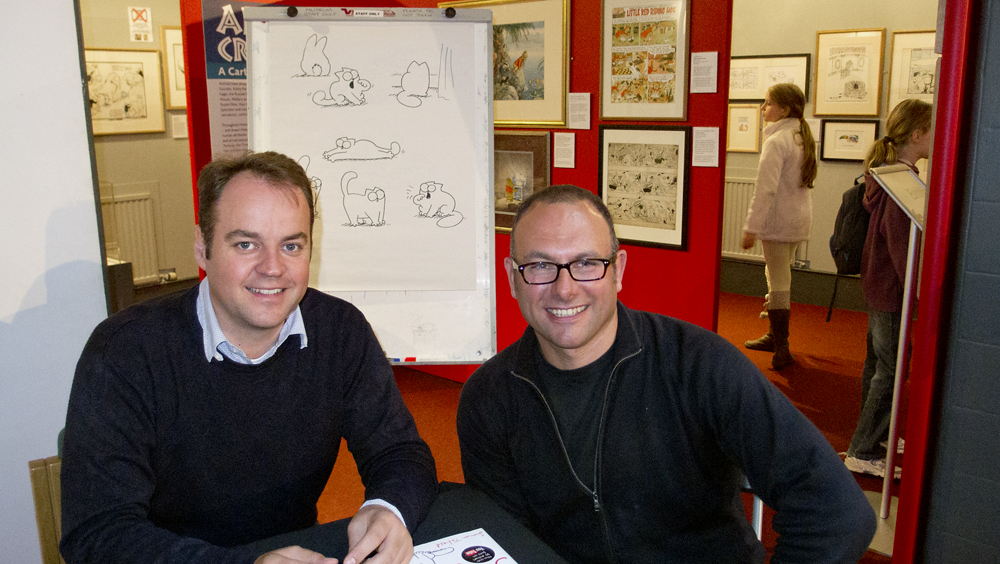 Simon Tofield and Steven McCombe at the Cartoon Museum