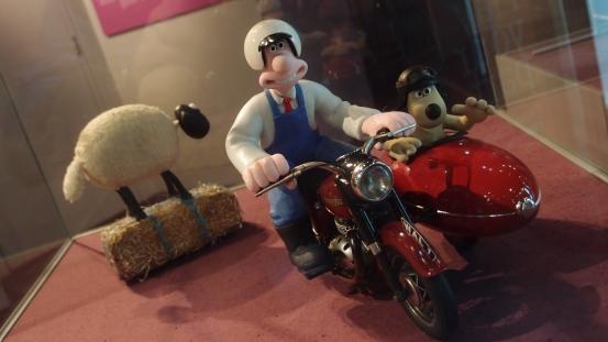 Wallace & Gromit plastercine models