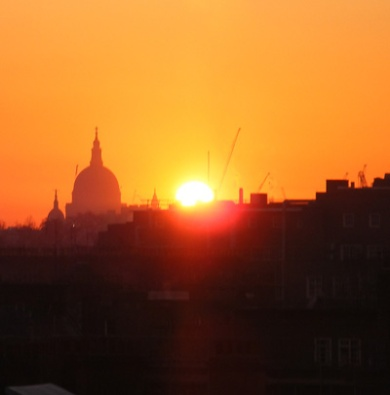 Sunrise in London